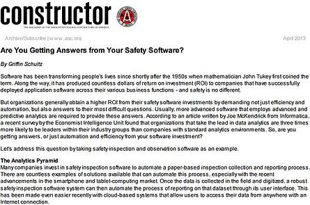 Are You Getting Answers from Your Safety Software?