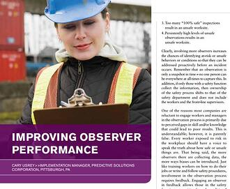 Improving observer performance
