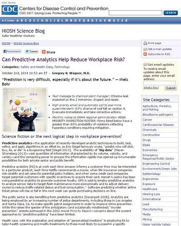 Can Predictive Analytics Help Reduce Workplace Risk?