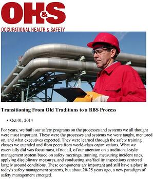 Transitioning from old traditions to a BBS Process