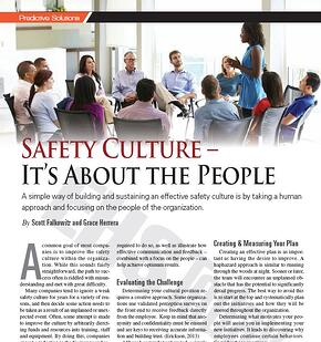 Safety Culture - It's about the people