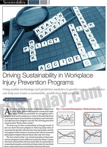 Driving Sustainability in Workplace Injury Prevention Programs