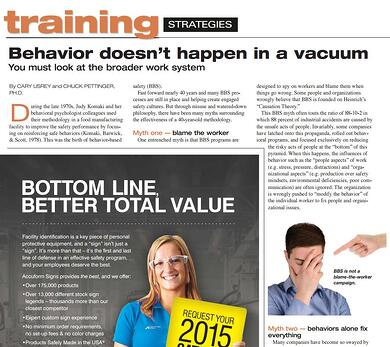 Predictive Solutions - ISHN Article - Behavior doesn't happen in a vacuum